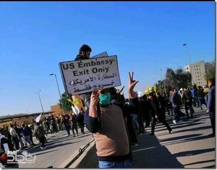 Amerikaanse ambassade - Bestorming 31c december 2019