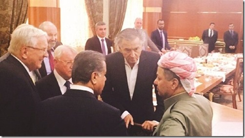 Bernard Henri Levy met Massoud Barzani - 1