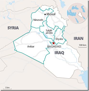Kaart Irak - Soenniestan