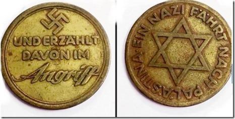 Nazi medaille bezoek Palestina - Leoold Edler von Middlestein - 1933