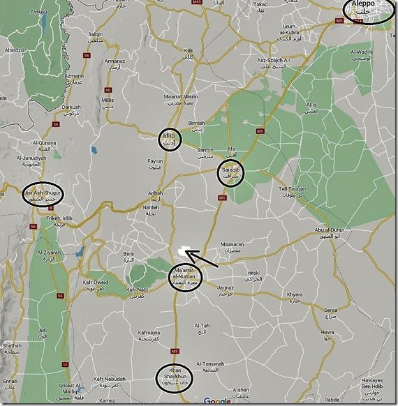 Syrië - Kaart M5 - Khan Sheikhoun - Aleppo