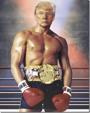 Trump als bokser Balboa