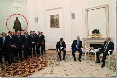 Catharina de Grote met Turkse delegatie, Erdogan en Putin - Maart 2020