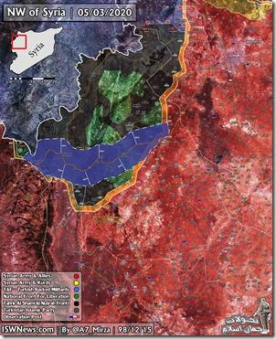 Idlib - Bufferzone M4 - Akkoord Rusland-Turkije - 5 maart 2020
