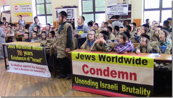 Joodse scholieren protesteren tegen Israël