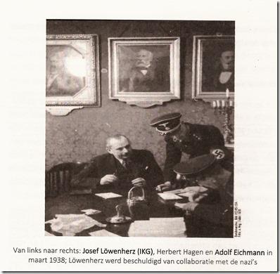 Josef Löwenherz IKG met Adolf Eichman - Maart 1938