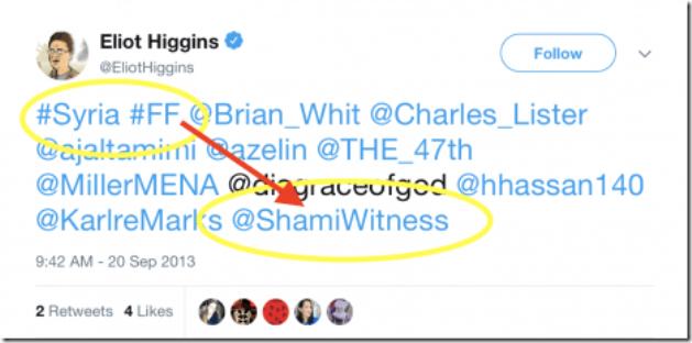 Shami Witness - Aangeprezen door Eliot Higgins