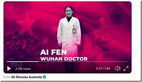 Corona - Ai Fen - Hoofd spoeddienst Centraal hospitaal Wuhan - 1 april 2020