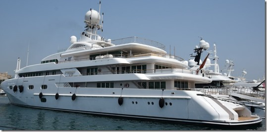 Jacht - Kroonprrins Mohammed bin Salman - 300 miljoen pond sterling - 3