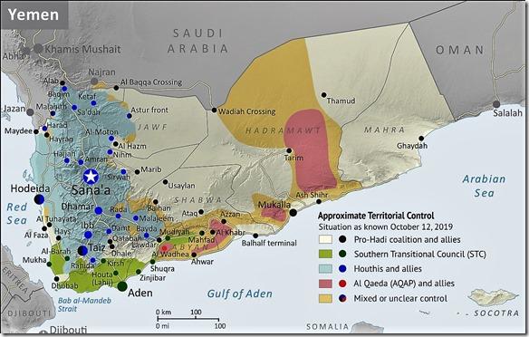 Jemen - Militaire situatie 12-oktober-2019