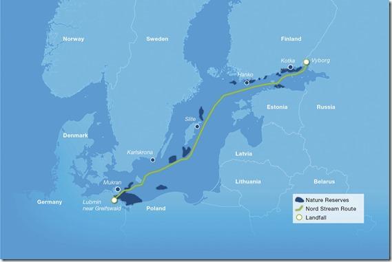 Nordstream 2  - kaart