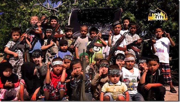 Oeigoerse kinderen in Syrië