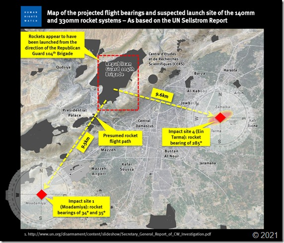 HRW - Tekening die 104 Brigade Republikeinse Wacht als dader aanduidt. Rapport september 2013jpg
