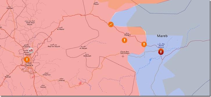 Mareb - Sanaa - Frontlijn Maart 2021