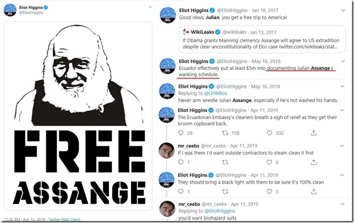 Eliot Higgins over Assange