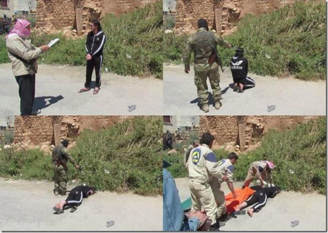 Witte Helmen - Executie